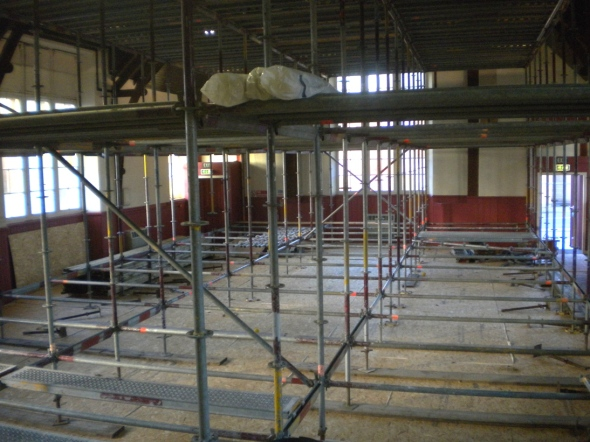 Scaffolded Main Hall